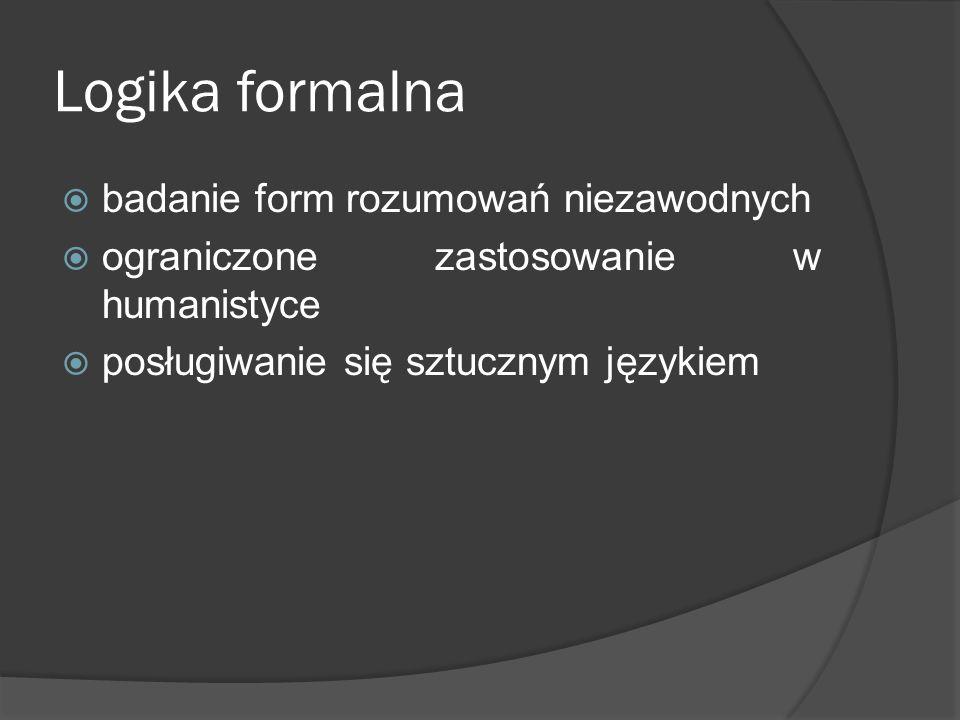 Logika formalna badanie form rozumowań niezawodnych