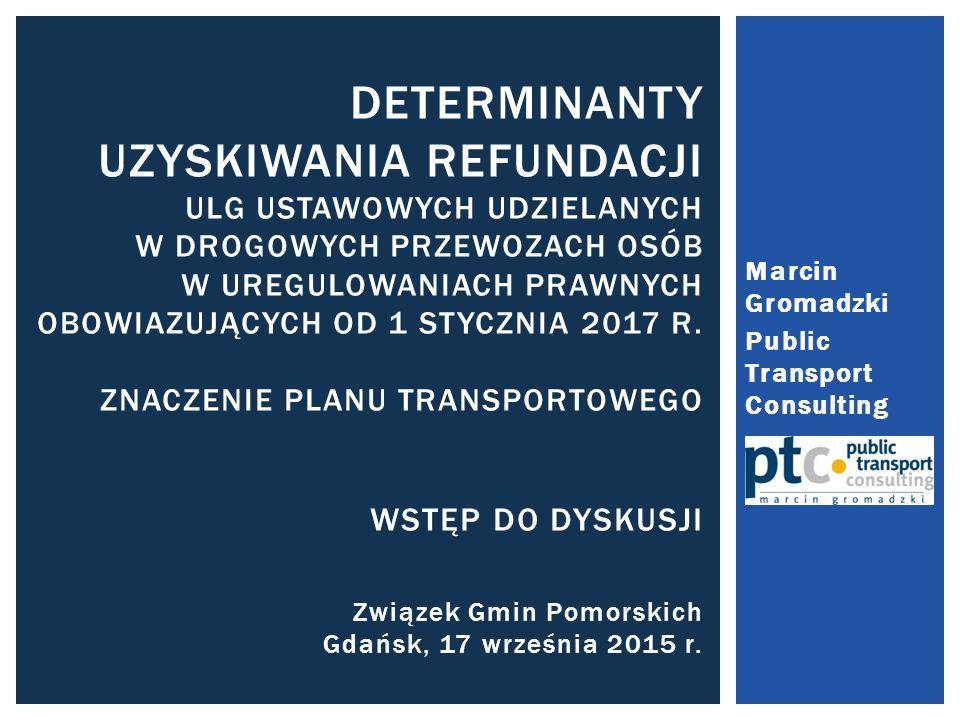 Marcin Gromadzki Public Transport Consulting.