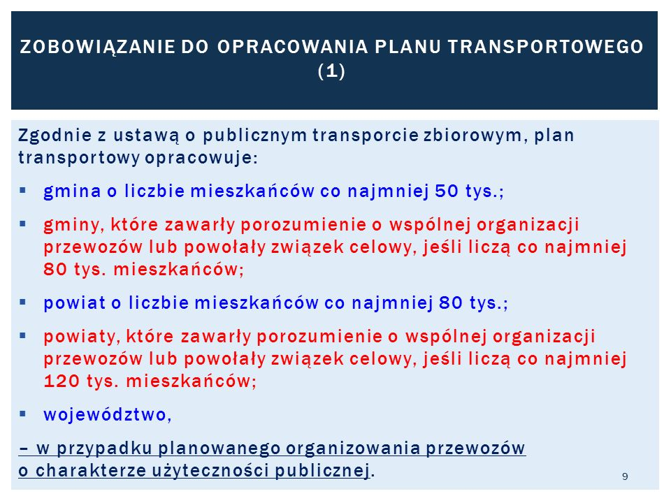 ZOBOWIĄZANIE DO OPRACOWANIA PLANU TRANSPORTOWEGO (1)