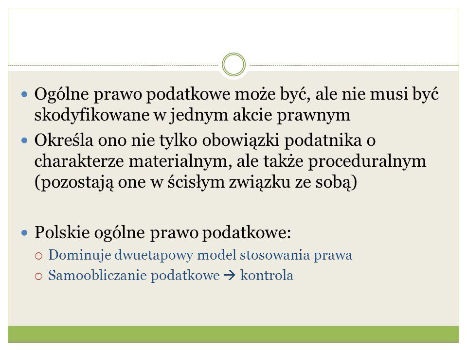 Polskie ogólne prawo podatkowe: