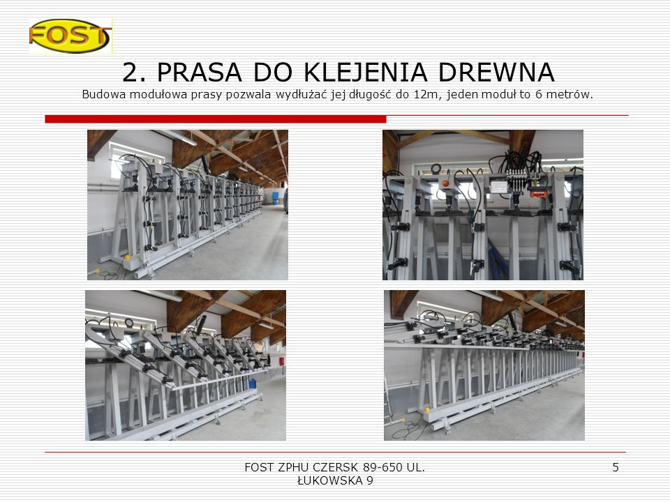 FOST ZPHU CZERSK 89-650 UL. ŁUKOWSKA 9