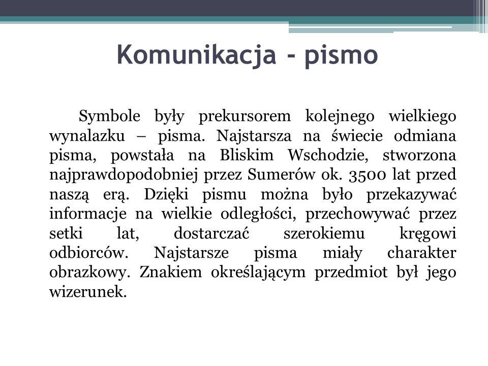 Komunikacja - pismo