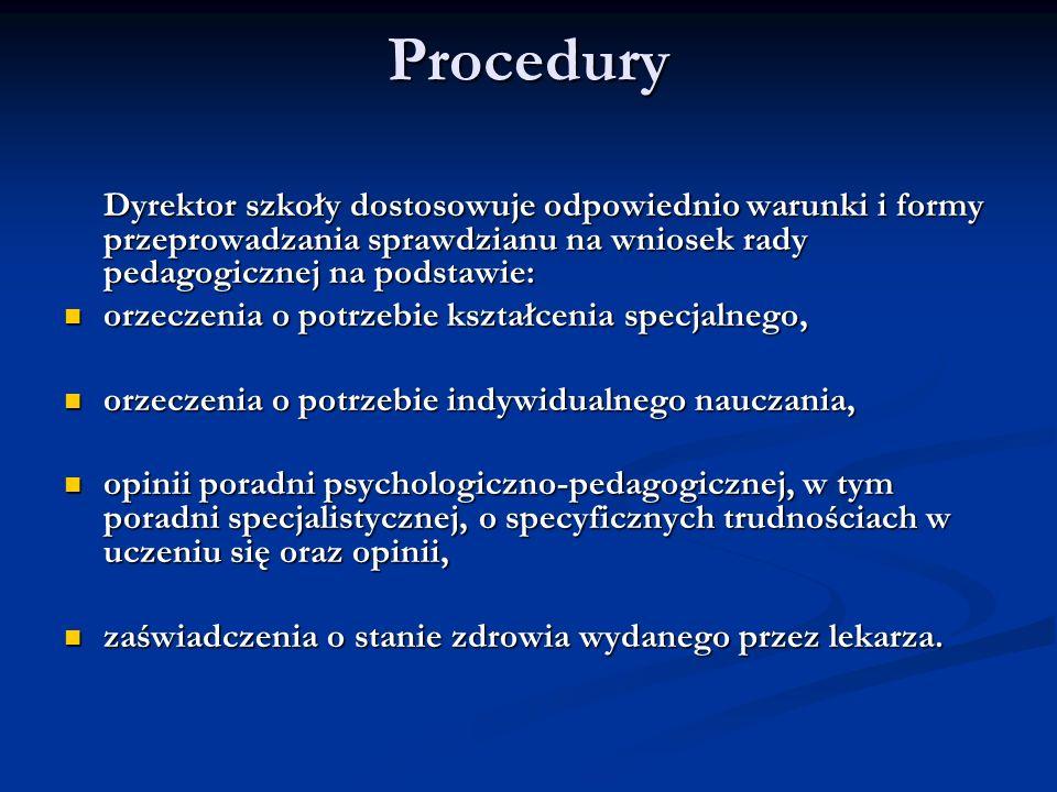 Procedury orzeczenia o potrzebie kształcenia specjalnego,