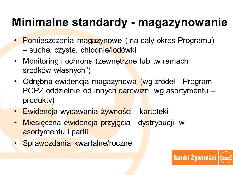 Minimalne standardy - magazynowanie