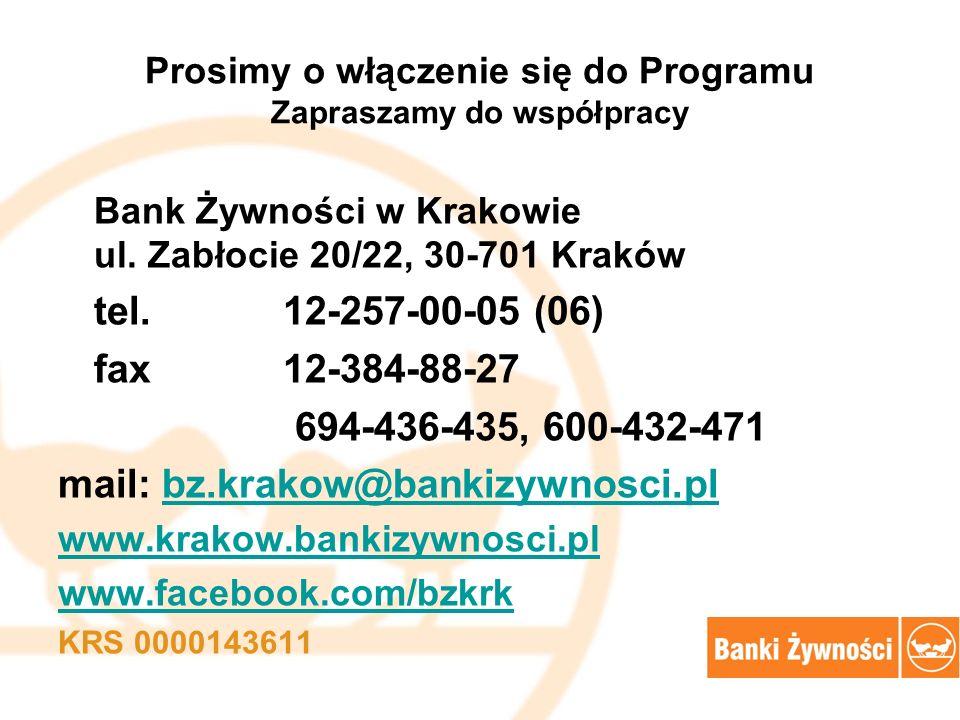 Prosimy o włączenie się do Programu Zapraszamy do współpracy