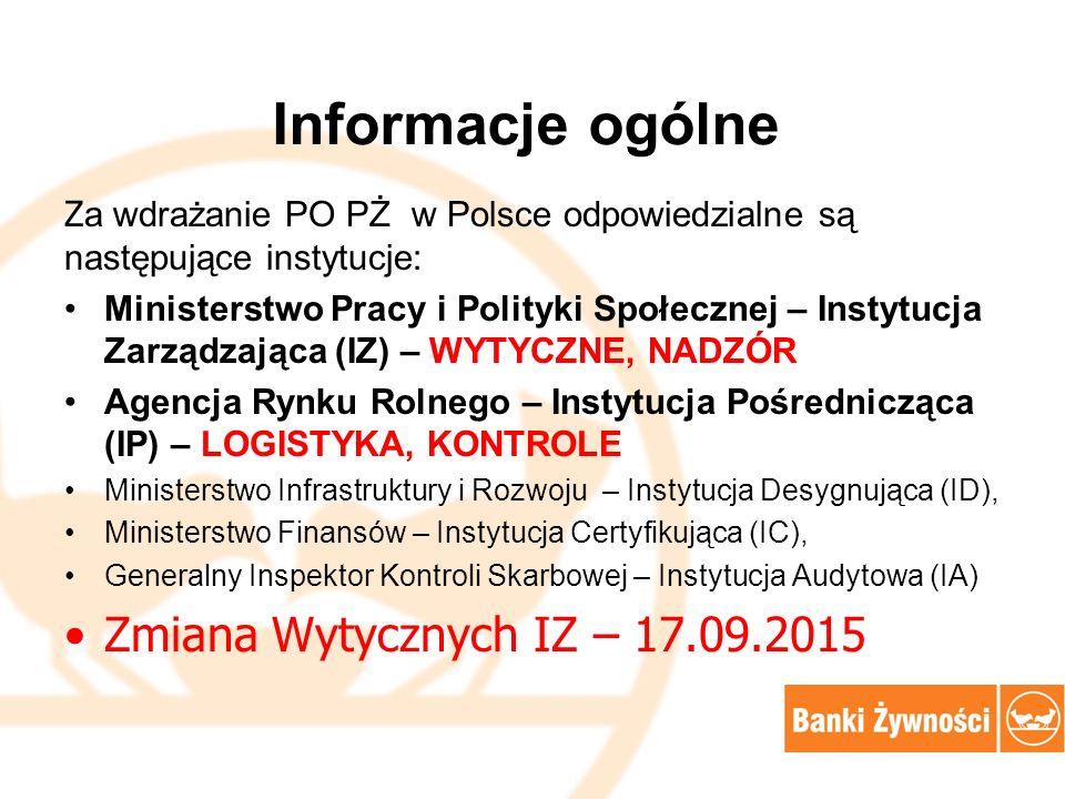Informacje ogólne Zmiana Wytycznych IZ – 17.09.2015