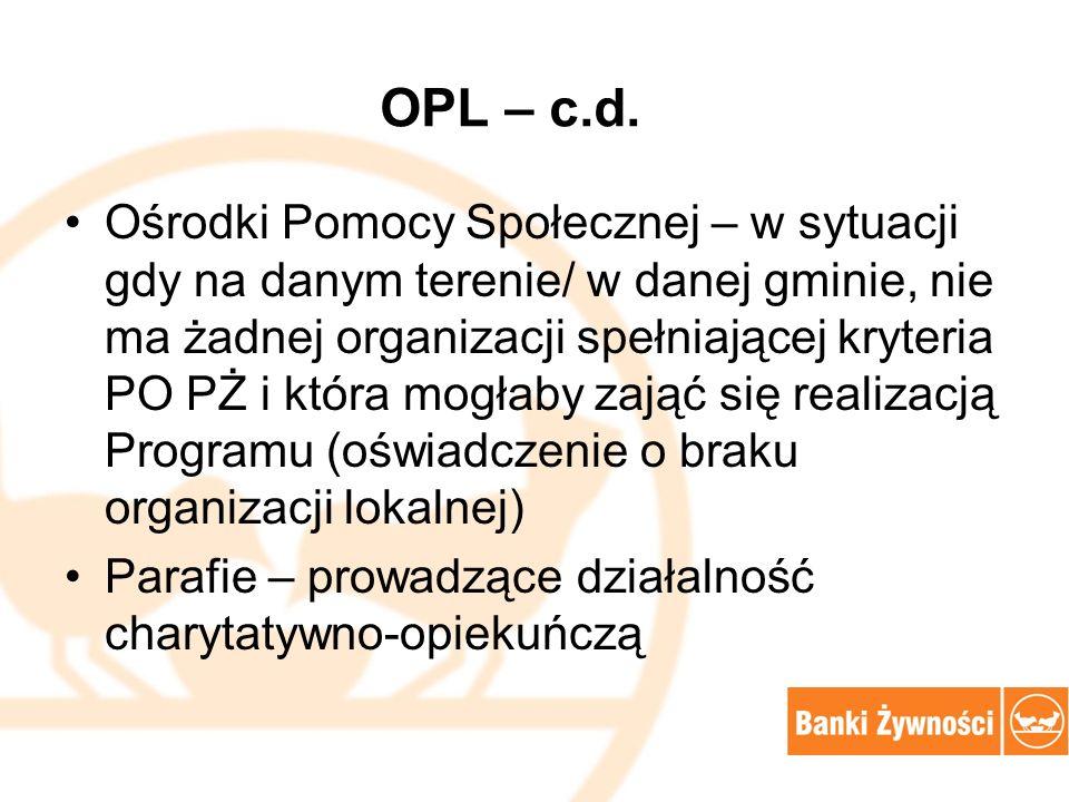OPL – c.d.