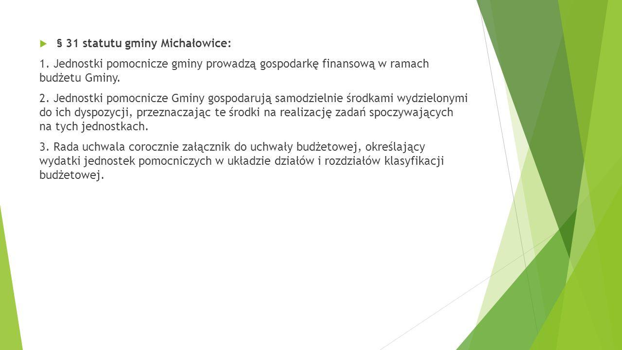 § 31 statutu gminy Michałowice: