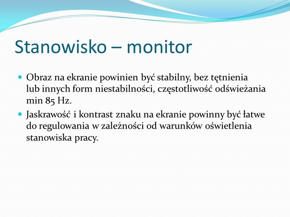 Stanowisko – monitor