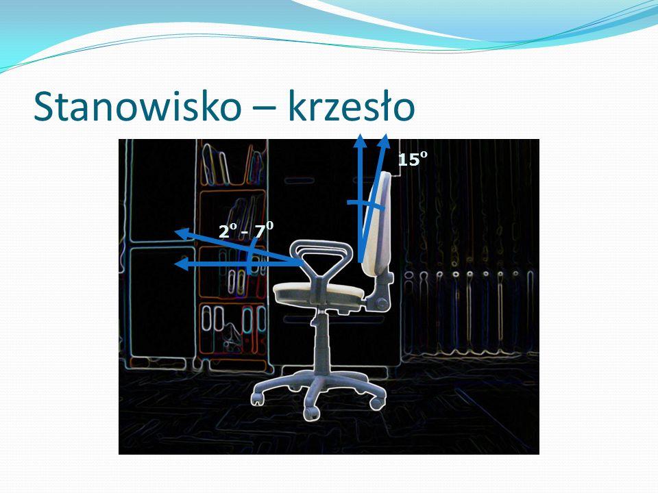 Stanowisko – krzesło 15o 2o - 70