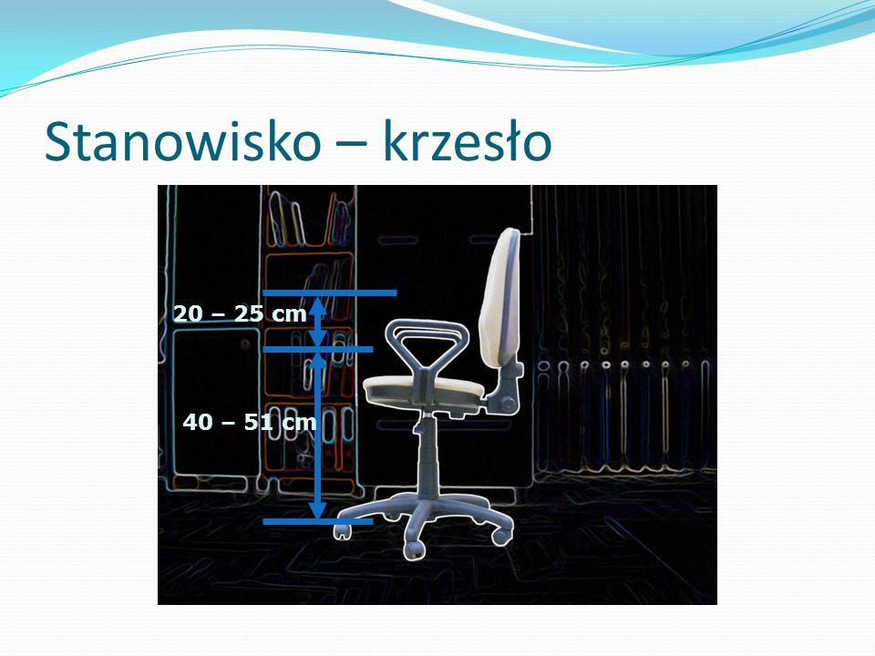 Stanowisko – krzesło 20 – 25 cm 40 – 51 cm