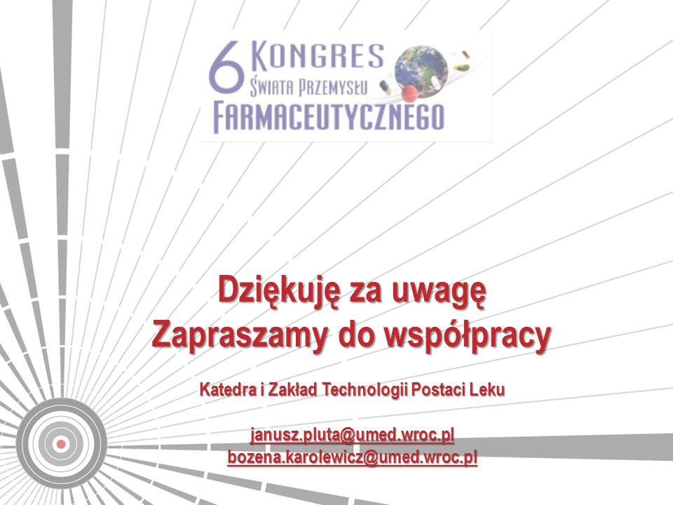 Zapraszamy do współpracy Katedra i Zakład Technologii Postaci Leku