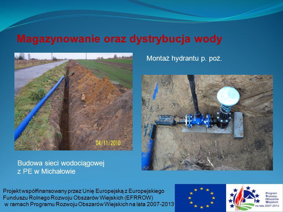 Magazynowanie oraz dystrybucja wody