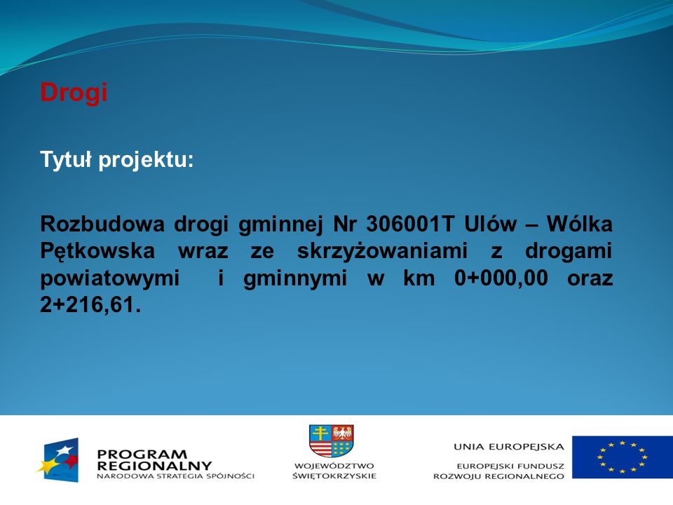 Drogi Tytuł projektu: