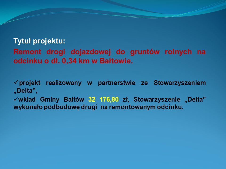"""projekt realizowany w partnerstwie ze Stowarzyszeniem """"Delta ,"""