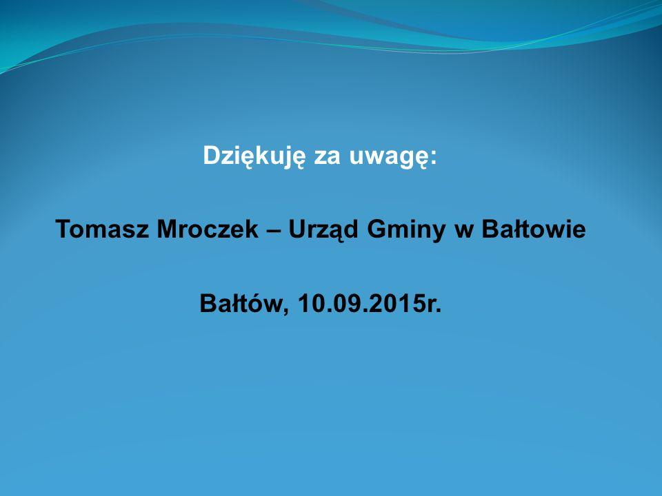 Tomasz Mroczek – Urząd Gminy w Bałtowie