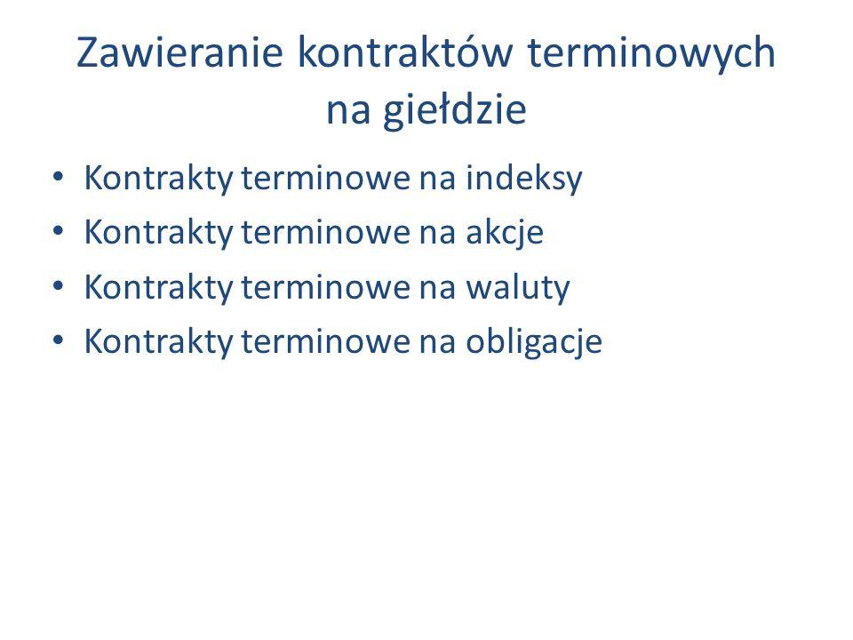 Zawieranie kontraktów terminowych na giełdzie