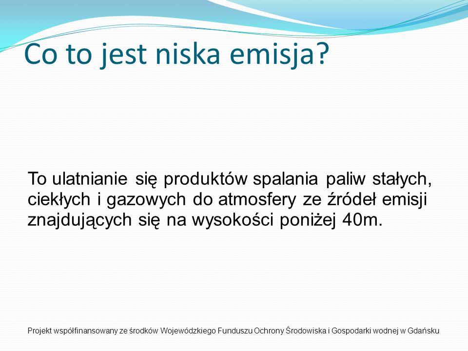 Projekt współfinansowany ze środków Wojewódzkiego Funduszu Ochrony Środowiska i Gospodarki wodnej w Gdańsku