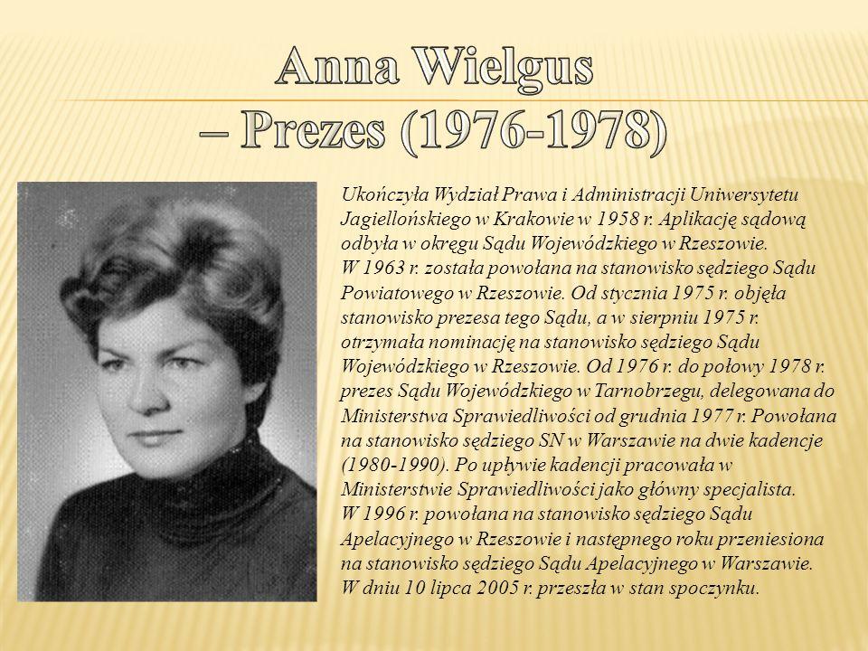 Anna Wielgus – Prezes (1976-1978)