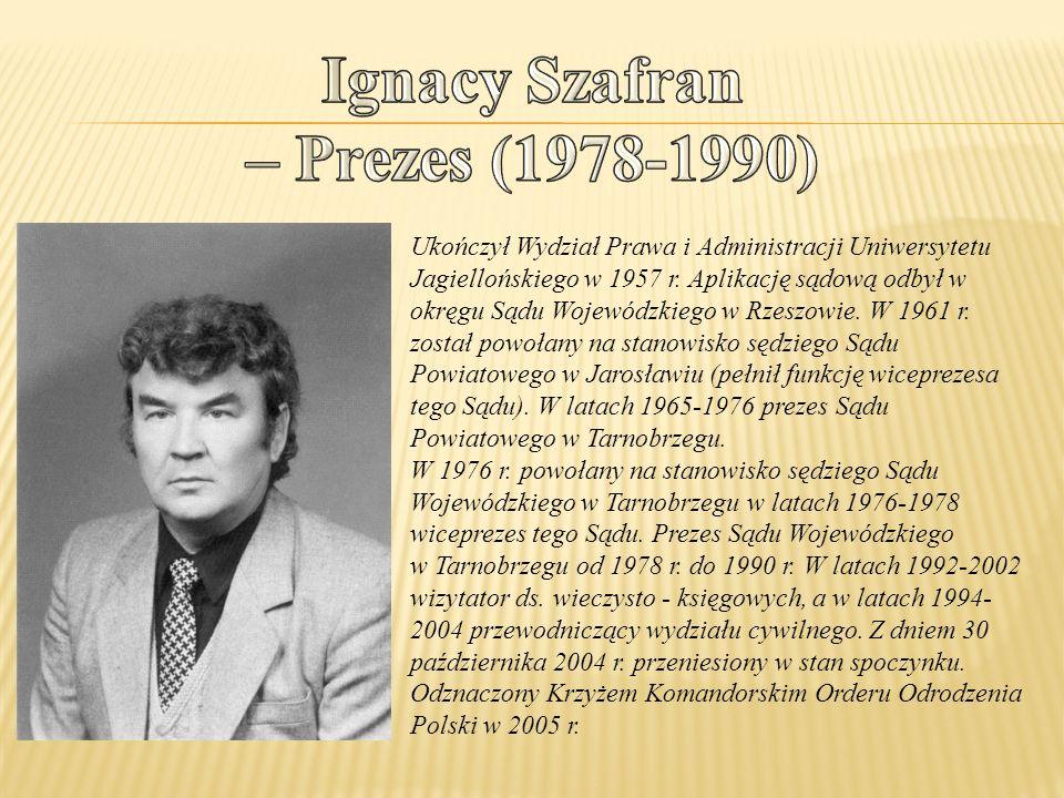 Ignacy Szafran – Prezes (1978-1990)