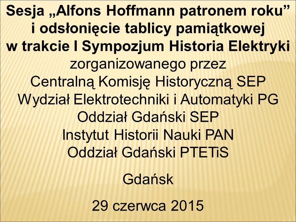 Wydział Elektrotechniki i Automatyki PG Oddział Gdański SEP
