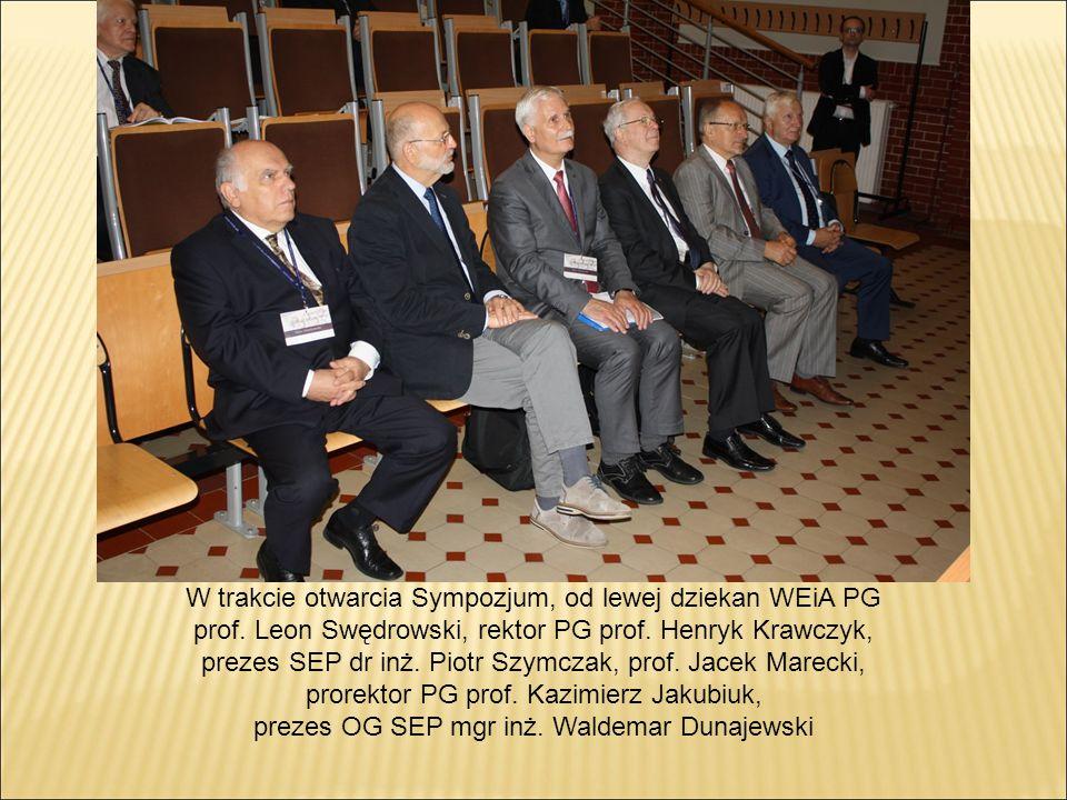W trakcie otwarcia Sympozjum, od lewej dziekan WEiA PG prof