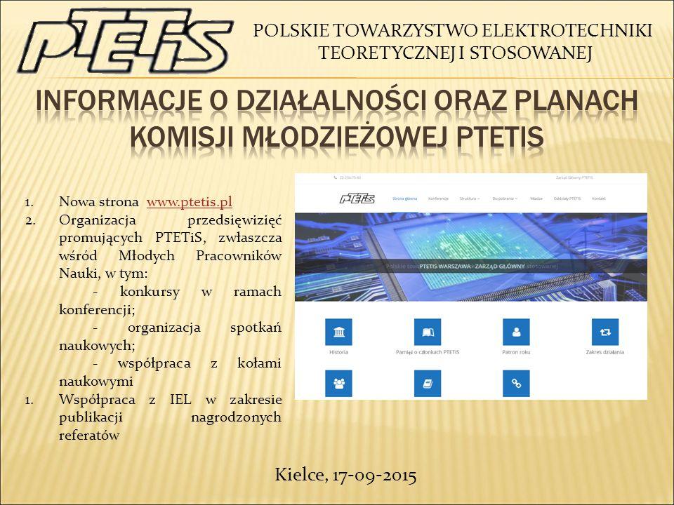 Informacje o działalności oraz planach komisji młodzieżowej ptetIs