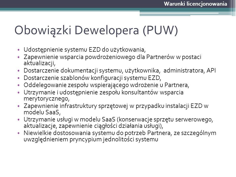Obowiązki Dewelopera (PUW)