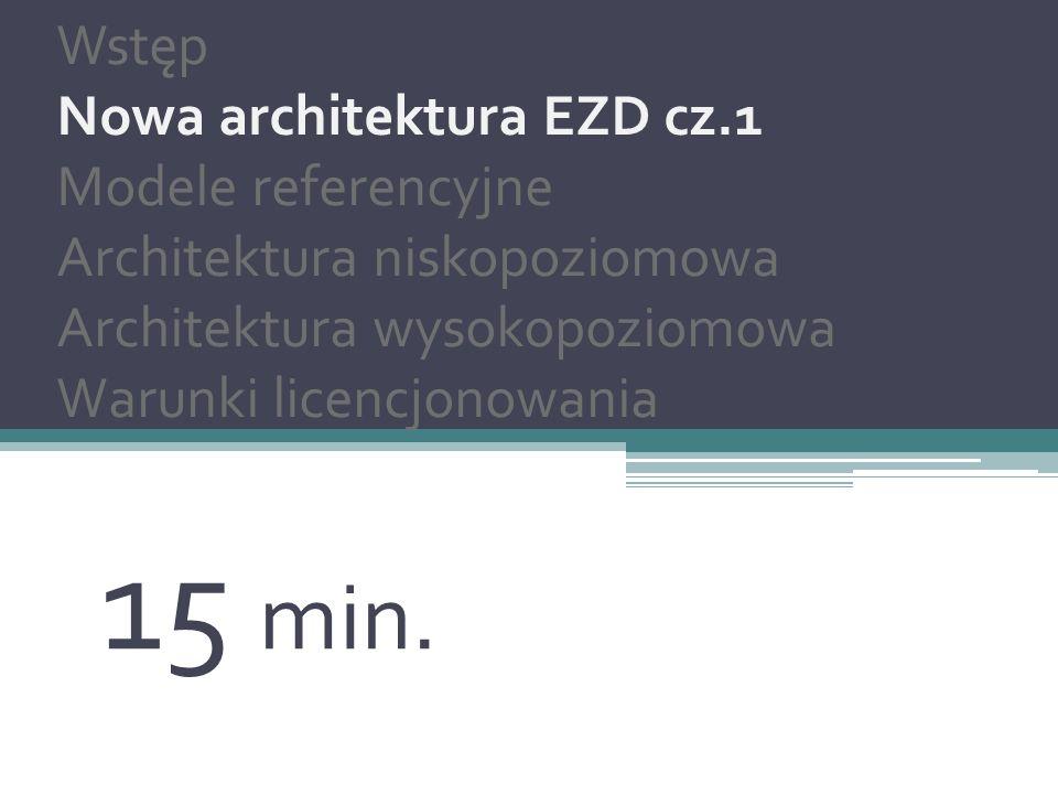 15 min. Nowa architektura EZD Wstęp Nowa architektura EZD cz.1