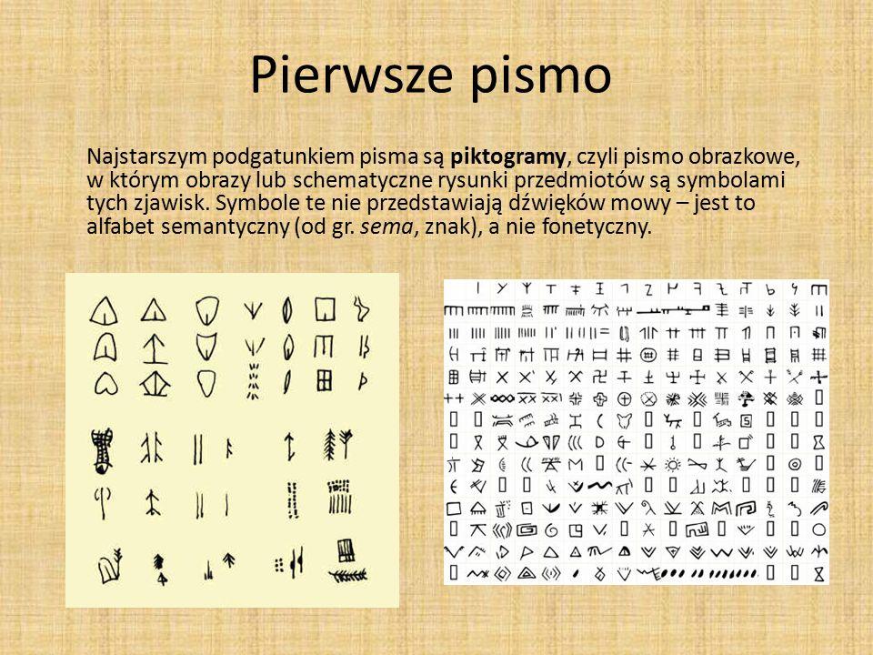 Pierwsze pismo