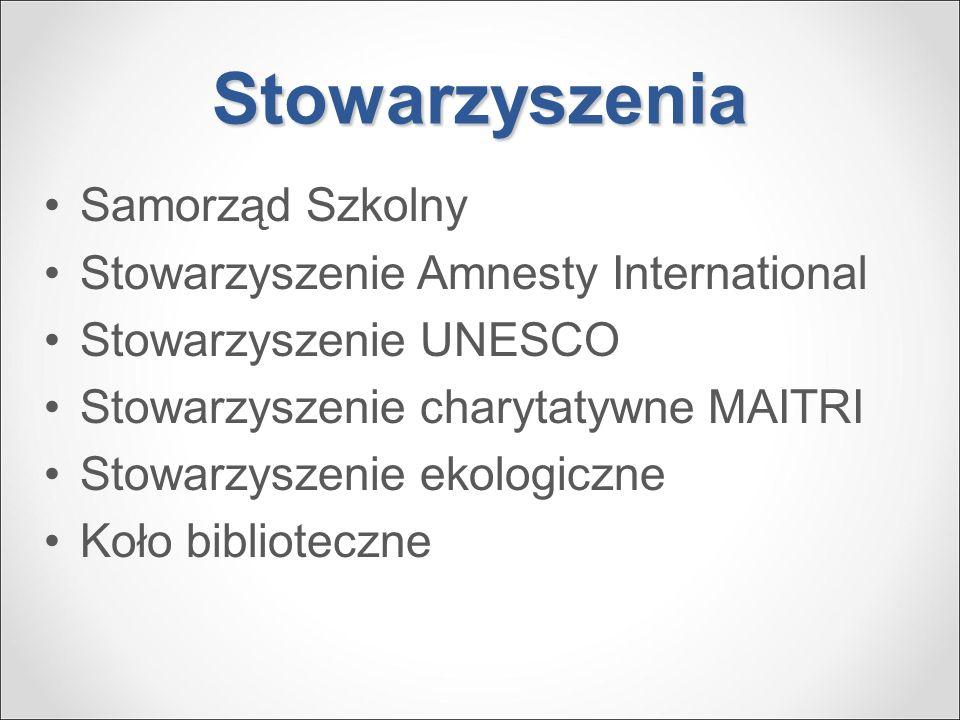 Stowarzyszenia Samorząd Szkolny Stowarzyszenie Amnesty International