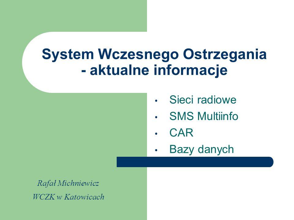 System Wczesnego Ostrzegania - aktualne informacje
