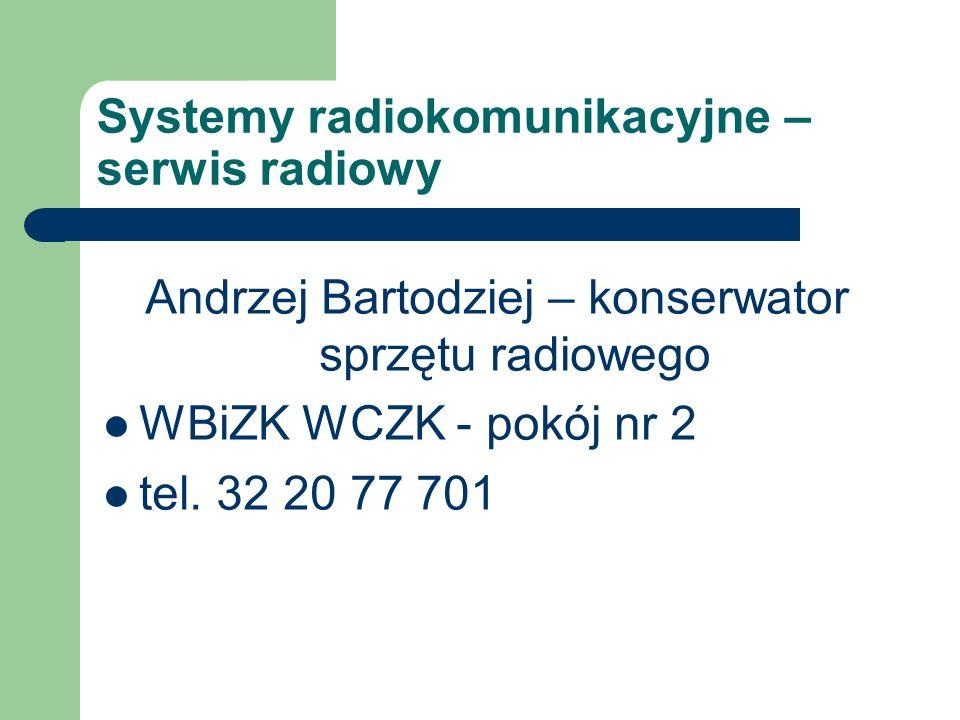 Andrzej Bartodziej – konserwator sprzętu radiowego