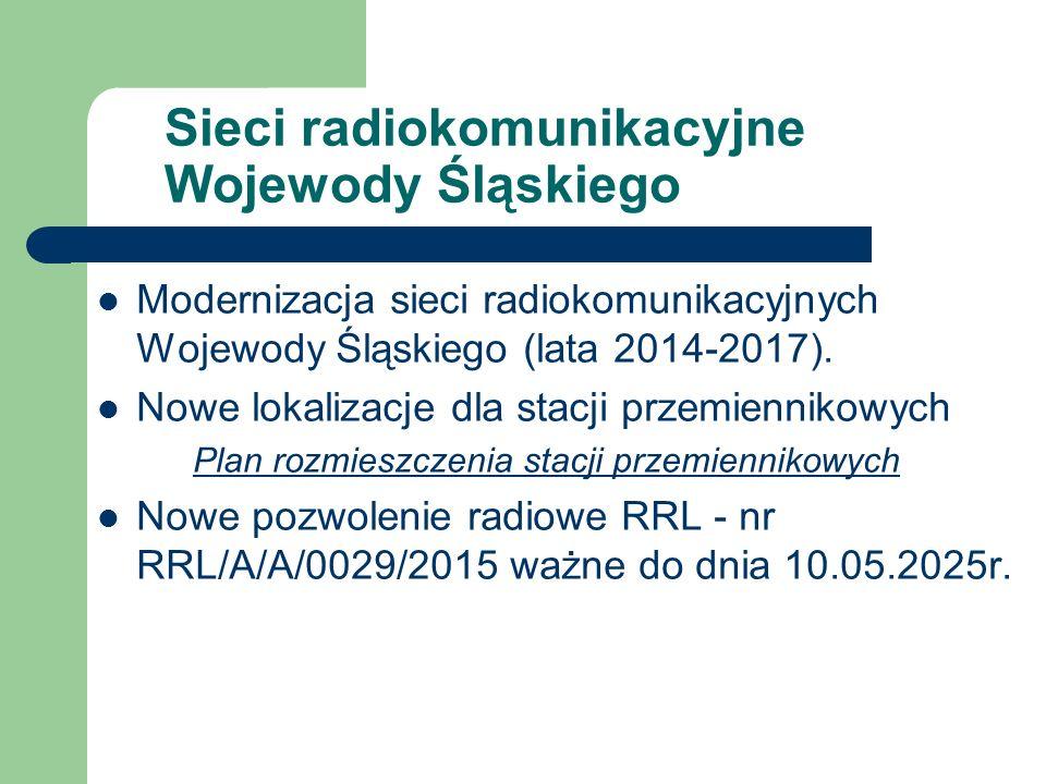 Sieci radiokomunikacyjne Wojewody Śląskiego