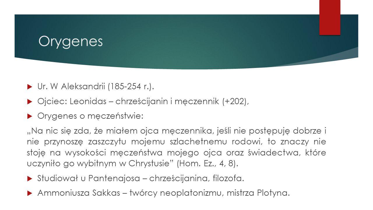 Orygenes Ur. W Aleksandrii (185-254 r.).