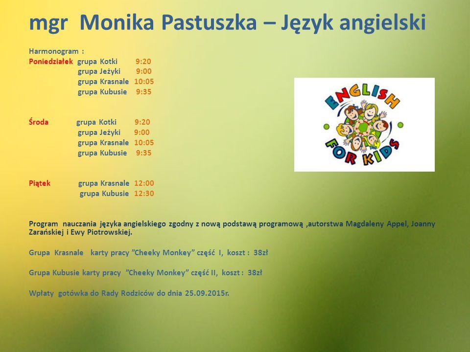 mgr Monika Pastuszka – Język angielski