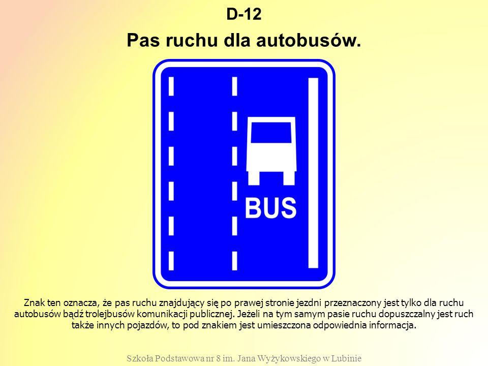 Pas ruchu dla autobusów.