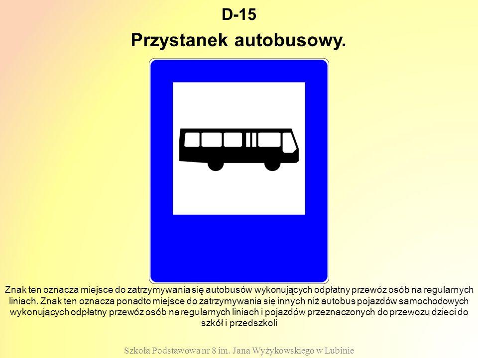 Przystanek autobusowy.