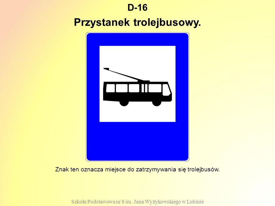 Przystanek trolejbusowy.