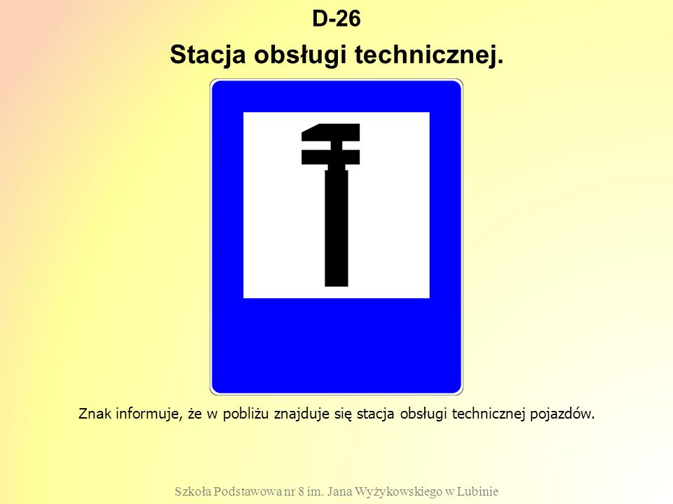Stacja obsługi technicznej.