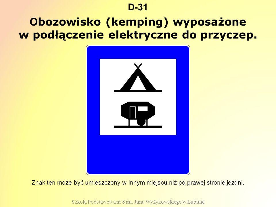 Obozowisko (kemping) wyposażone w podłączenie elektryczne do przyczep.