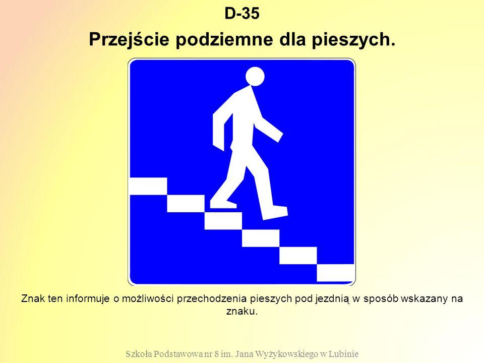 Przejście podziemne dla pieszych.