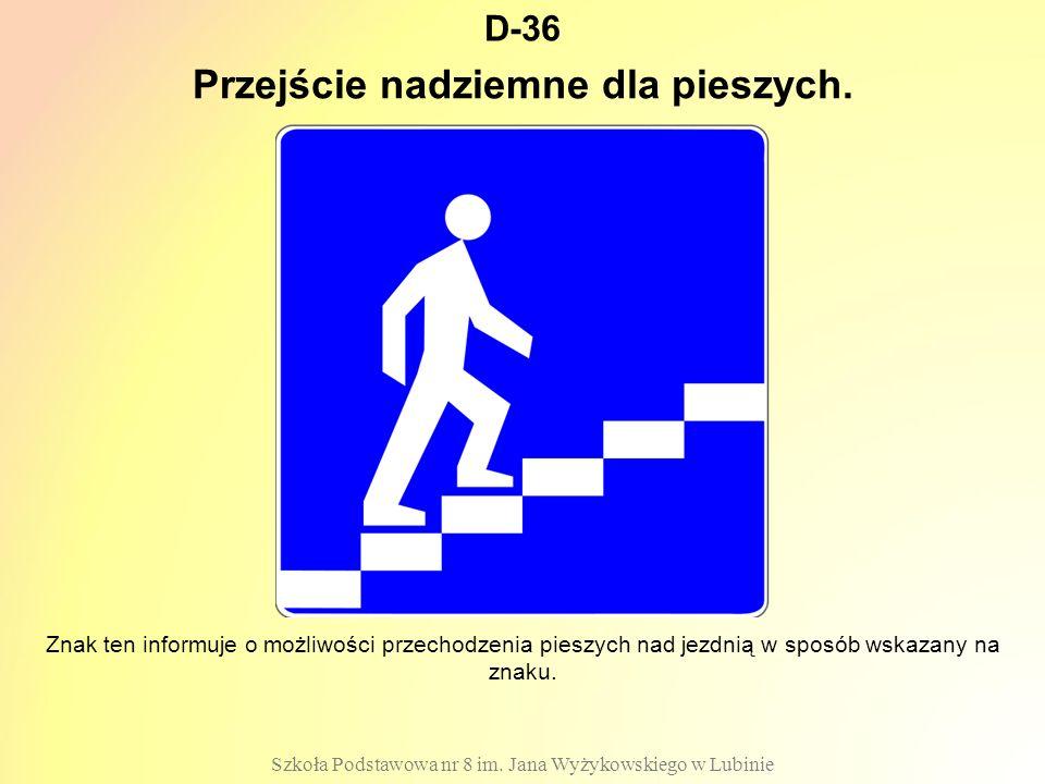 Przejście nadziemne dla pieszych.