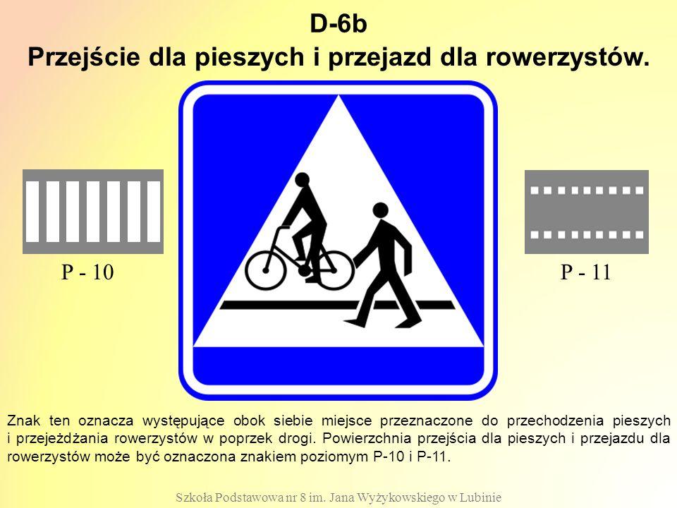 Przejście dla pieszych i przejazd dla rowerzystów.