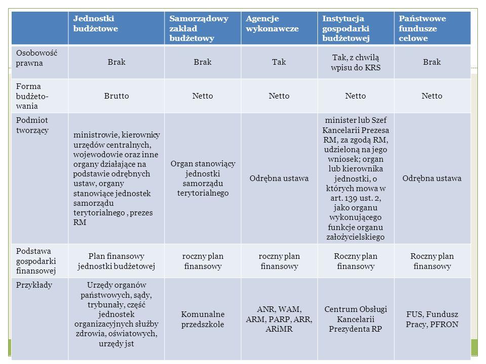 Samorządowy zakład budżetowy Agencje wykonawcze