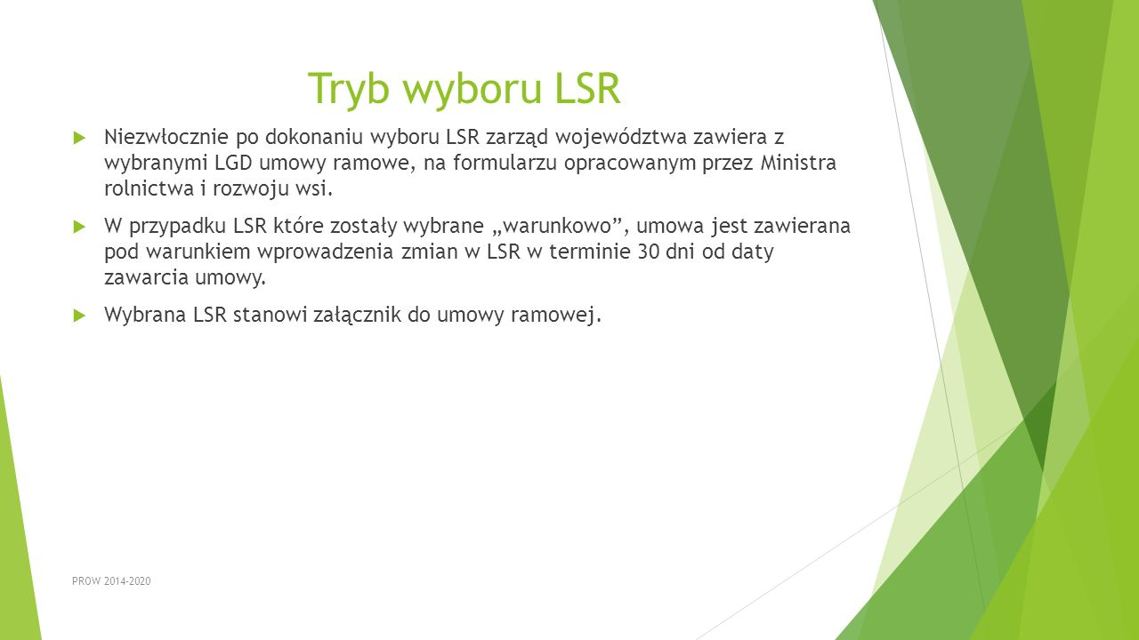 Tryb wyboru LSR