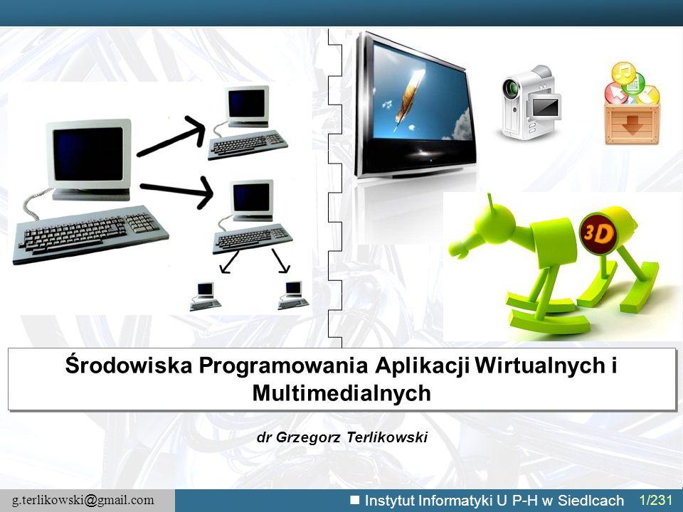 Środowiska Programowania Aplikacji Wirtualnych i Multimedialnych