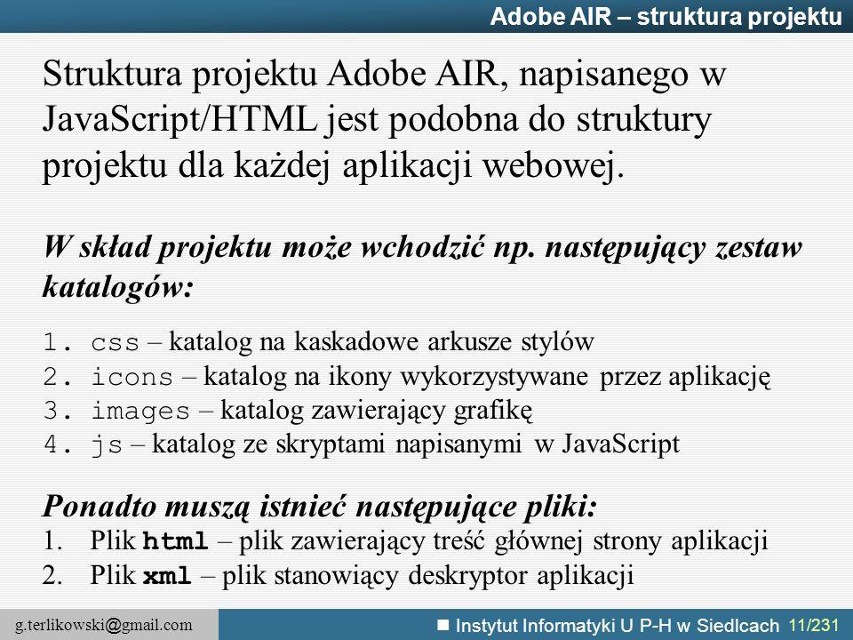 Adobe AIR – struktura projektu