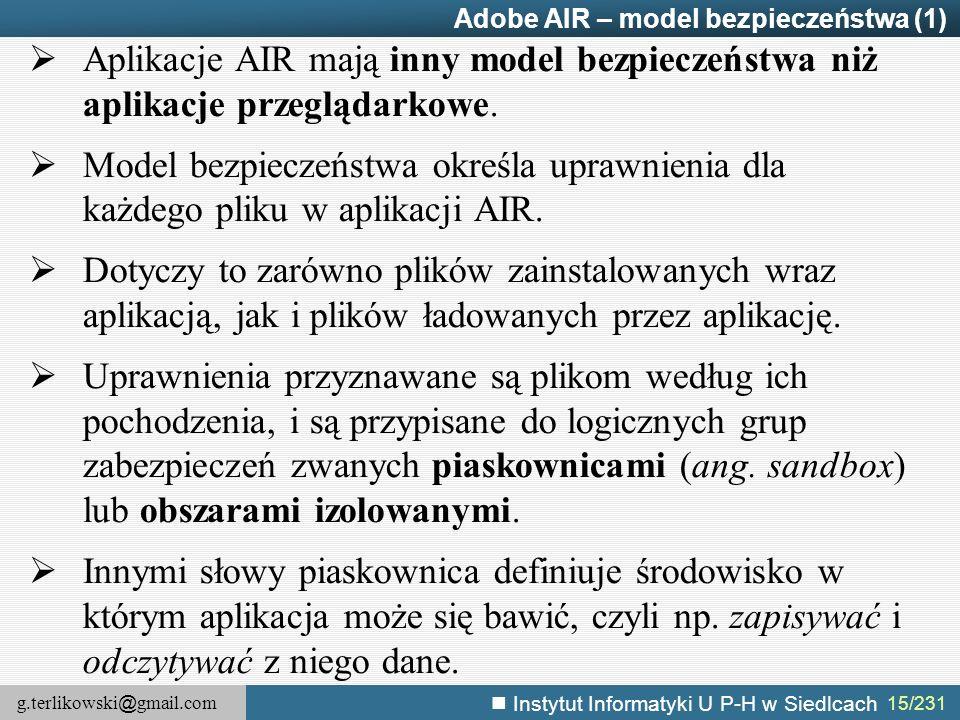 Adobe AIR – model bezpieczeństwa (1)