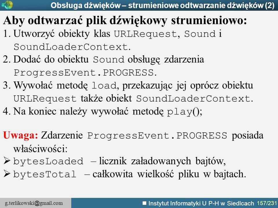 Aby odtwarzać plik dźwiękowy strumieniowo: